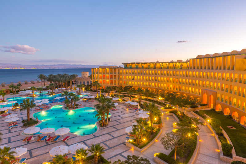 Best Hotel In Sinai Egypt - Strand Taba Heights - Night View