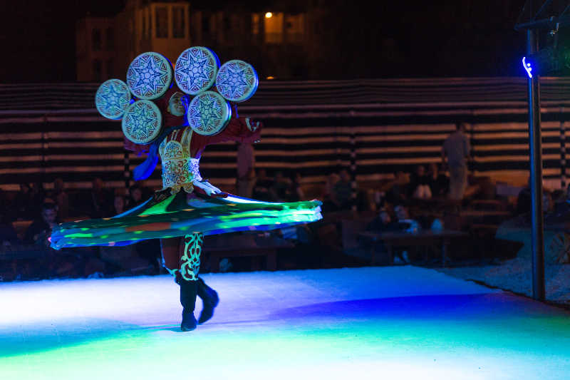 Tanoura show at Taba Heights Resort as an entertainment show