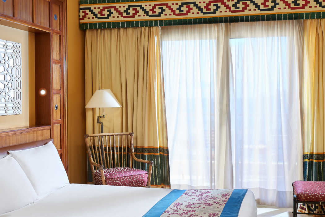 The garden view room at Mosaique Beach Resort in Taba Heights Sinai Egypt