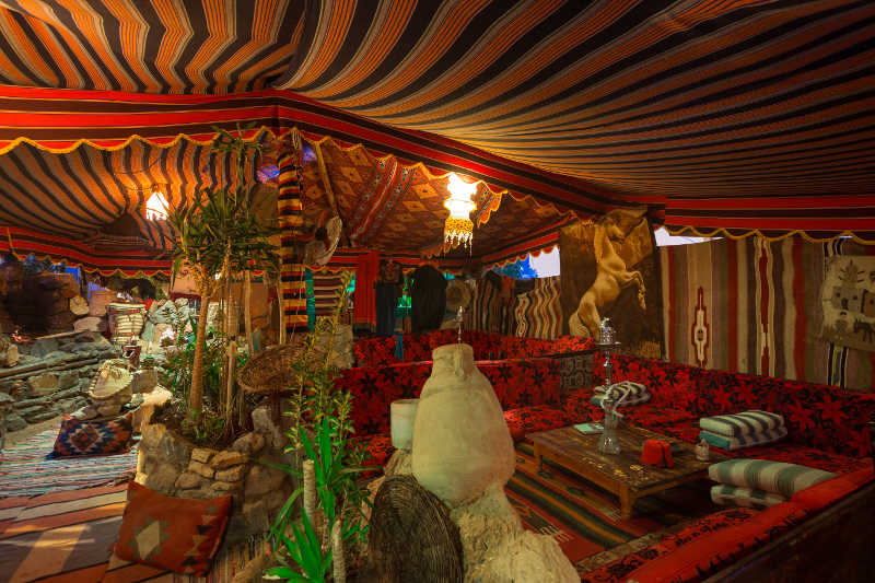 The Bedouin Tent at Taba Heights Resort for night entertainement and shows