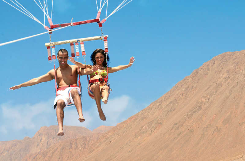 The Parasiling at Taba Heights Resort for watersports