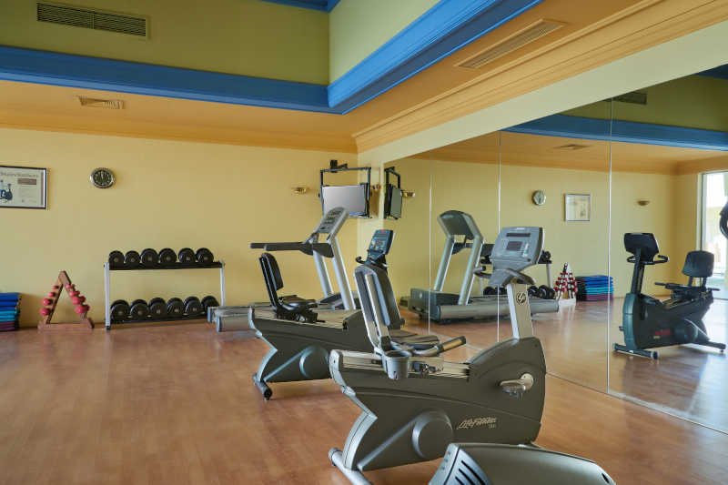Gym and well-equipped fitness center in Mosaique Taba Hotel