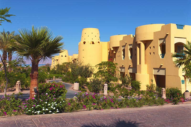 The Bayview Resort entrance at Taba Heights - Sinai Egypt Hotels