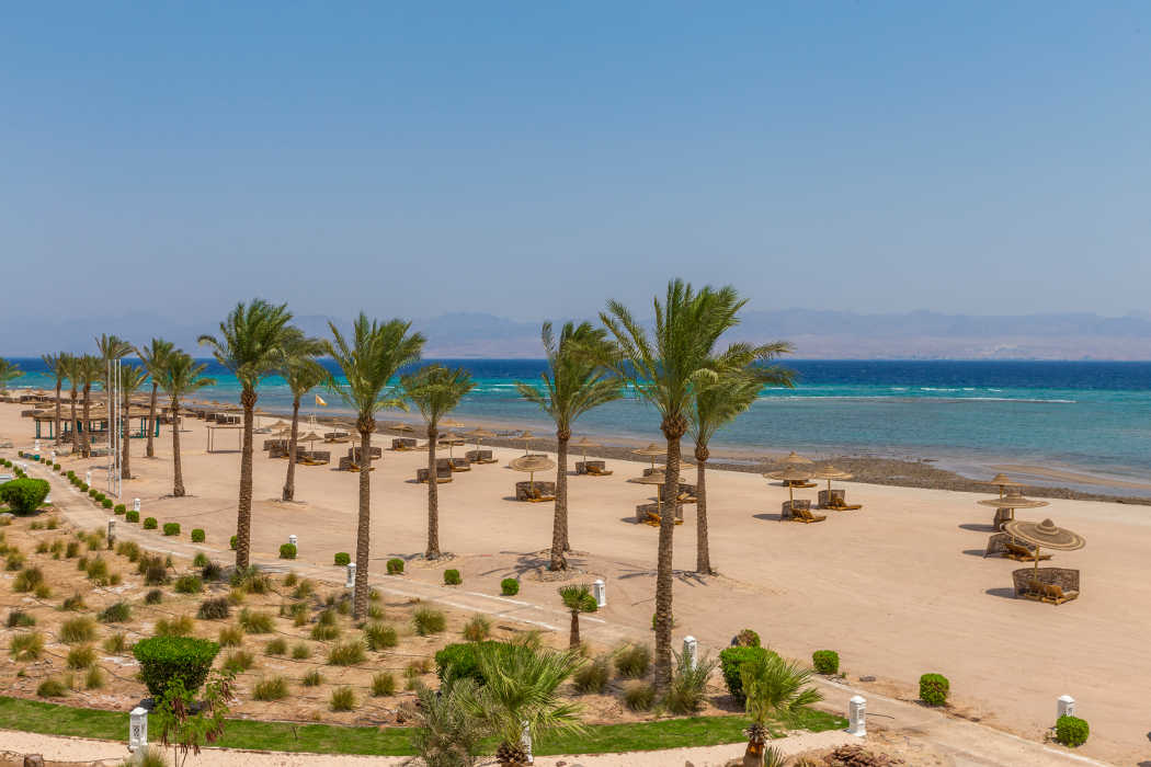Beach View From The Bayview Taba Heights Resorts In Sinai Egypt